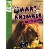 Animal Planet Carte cu stickere: Mari Animale