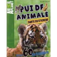 Animal Planet Carte cu stickere: Pui de Animale