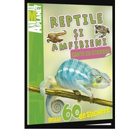 Animal Planet Carte cu stickere: Reptile si Amfibieni
