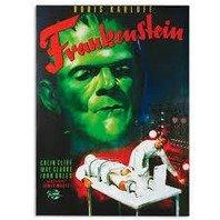 Canvas print, Poster Cinema Frankenstein, rama de lemn,50 x 70 cm
