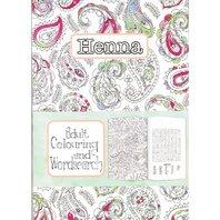 Carte de colorat pentru adulti henna