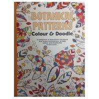 Carte de colorat pentru adulti modele botanice