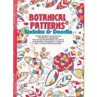 Carte de colorat pt adulti A5 Modele Botanice si Sudoku