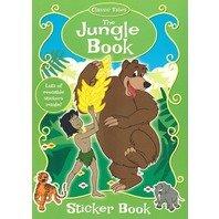 Cartea Junglei- carte de colorat cu stickere