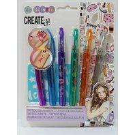 Create-it! Set 6 Pixuri pentru tatuaje si sabloane pentru fetite 2