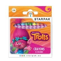 Creioane cerate Trolls,12 culori