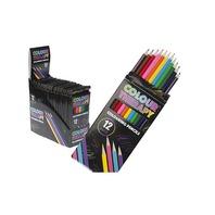 Creioane colorate Colour Therapy, 12 culori