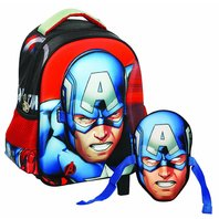 Ghiozdan Captain America gradinita cu masca
