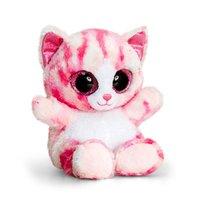 Jucarie de plus Animotsu Fashion pisica roz, 25 cm
