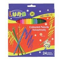 LUNA Creioane colorate, 24 buc