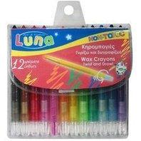 LUNA Creioane cerate Twist, 12 buc