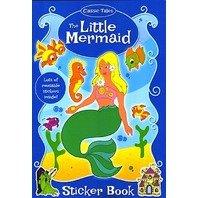Mica sirena- carte de colorat cu stickere