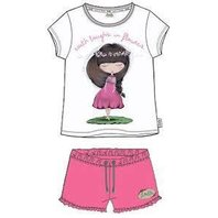 Pijama Anekke alb cu roz-12Y