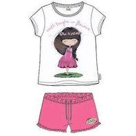 Pijama Anekke alb cu roz-14Y