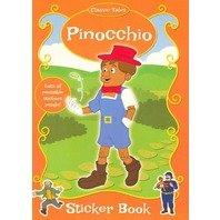 Pinocchio- carte de colorat cu stickere