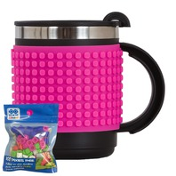 Cana thermo Pixie roz fuchsia, 480 ml