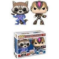 Set 2 figurine Pop! Games Rocket vs. Mega Man X - Marvel GamerVerse - Exclusive version
