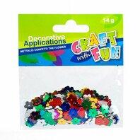 Set creativ - Aplicatii metalice in forma de floricele multicolore