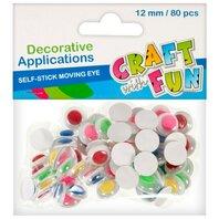Set Creativ - Ochisori mobili colorati, cu autoadeziv, 12mm/80buc