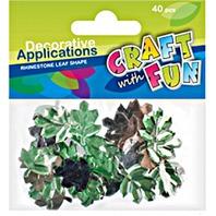 Set creativ - Strasuri in forma de frunze