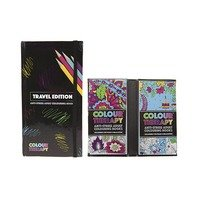 Set de colorat portabil, Colour Therapy, 2 x 50 pag