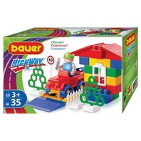 Set de construit Bauer Train, 35 piese
