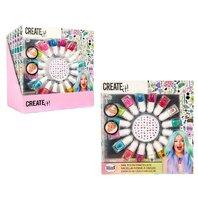 Set de unghii pentru fetite. Contine lac de unghii 16 culori + folie cu stickere