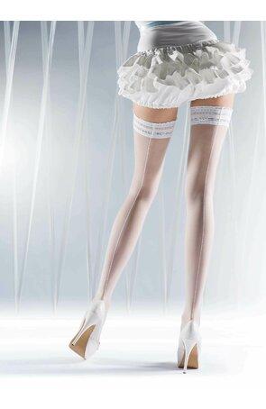 Ciorapi albi cu banda adeziva Ever After
