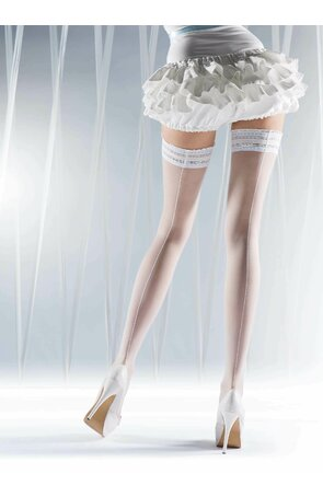 Ciorapi albi cu banda adeziva Knittex Ever After