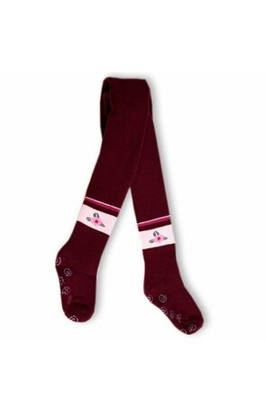 Ciorapi pantalon flausati cu ABS pt fete 534-013ABS-G