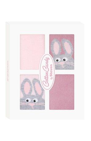 Sosete cu model pentru fetite, in cutie cadou S144-B001