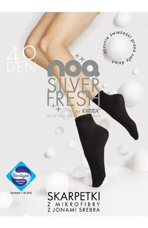 Sosete dama 1/2 din microfibra 40 den Silver Fresh