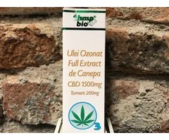 ECO ULEI OZONAT FULL EXTRACT DE CANEPA CBD 1500 MG TURMERIC 200 MG 10 ML