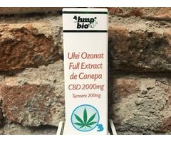 ECO ULEI OZONAT FULL EXTRACT DE CANEPA CBD 2000 MG CU TURMERIC 10 ML