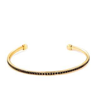 Bratara - Black&Gold Cuff - placata cu aur 18K