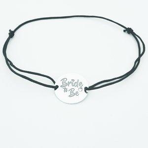Bratara Bride to be - Argint 925, snur negru