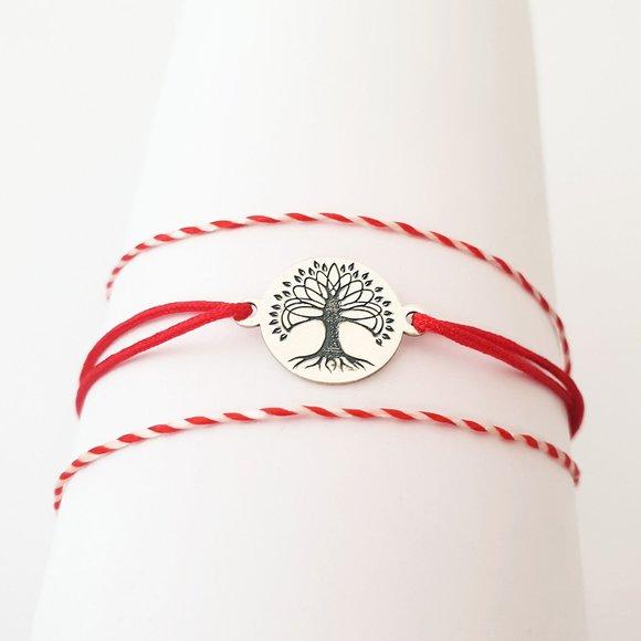 Bratara Copacul Vietii - Argint 925 - snur reglabil