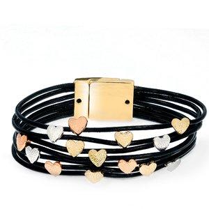 Bratara - Golden Hearts - placata cu aur 18K