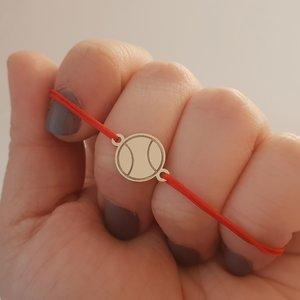 Bratara Minge de Tenis - Aur galben 14k - snur reglabil
