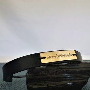 Bratara Sotul si Taticul Perfect - Argint 925 placat cu Aur 14k, piele