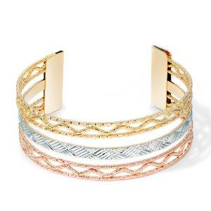 Bratara - Waving Pattern Cuff - placata cu aur 18K