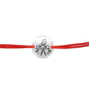 Bratara Craciun - Clinchet de clopotei - Argint 925, snur reglabil diverse culori