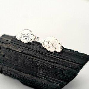 Cercei Bichon - Argint 925, surub