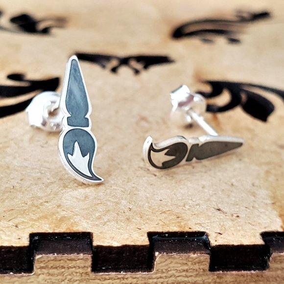 Cercei Pensula pictor - Argint 925, surub