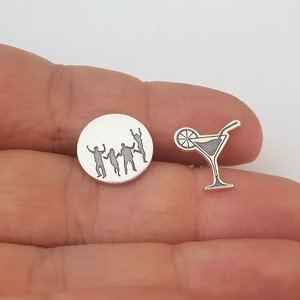 Cercei personalizati - Feeling Party Animal - Colectia Moody - Argint 925