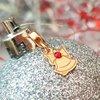 Charm personalizat Craciun - Clopotel - Argint 925 placat cu Aur galben 14K - cristal Swarovski