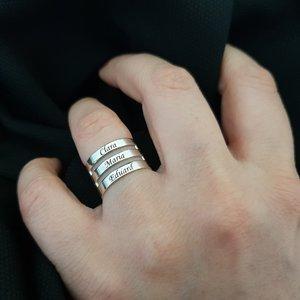 Inel personalizat 3 nume - Argint 925