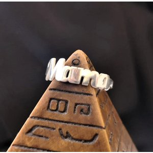 Inel personalizat cu 1 nume decupat - Argint 925