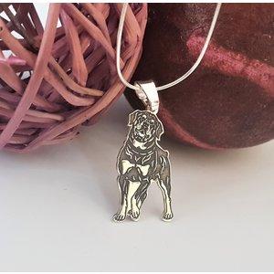 Lantisor cu pandantiv Rottweiler - Argint 925