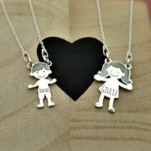 Lantisor Familie - 1 Membru - Argint 925